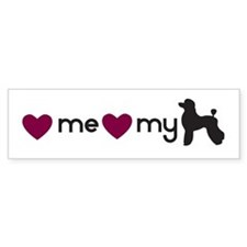 Love My Poodle Bumper Bumper Sticker