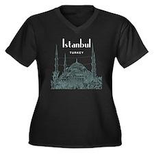Istanbul_10x Women's Plus Size Dark V-Neck T-Shirt