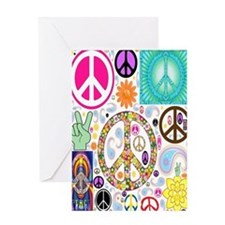 Peace  Paisley Collage FF Greeting Card