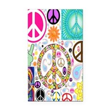 Peace  Paisley Collage FF Rectangle Car Magnet