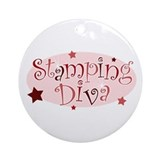 &quot;Stamping Diva&quot; [red] Ornament (Round)