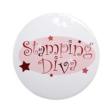 """Stamping Diva"" [red] Ornament (Round)"