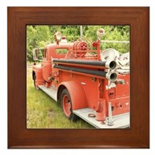 FIRETRUCK Framed Tile