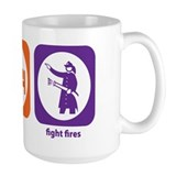 Eat Sleep Fight Fires Ceramic Mugs