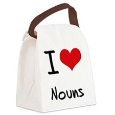 I love Nouns Canvas Lunch Bag