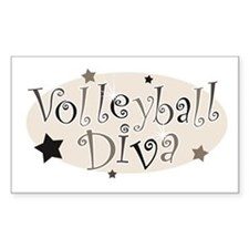 """Volleyball Diva"" [brown] Rectangle Decal"