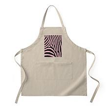 Pink Zebra Stripes Apron