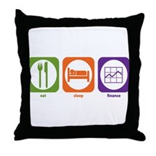 Eat Sleep Finance Throw Pillow