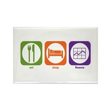 Eat Sleep Finance Rectangle Magnet (10 pack)
