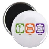 "Eat Sleep Finance 2.25"" Magnet (10 pack)"