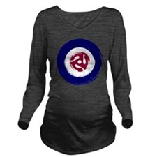 Retro Mod Target wit Long Sleeve Maternity T-Shirt