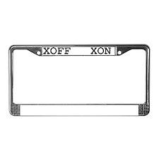 XON/XOFF License Plate Frame