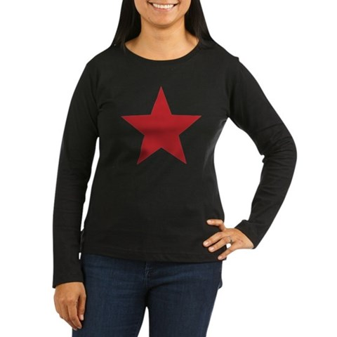 A cool red star graphic tee design Long Sleeve T-S