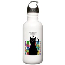 cat and spider shower  Water Bottle
