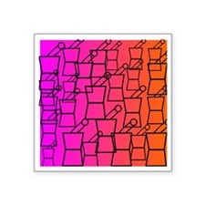 "pharmacist all over BEST 1 Square Sticker 3"" x 3"""