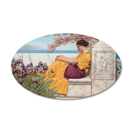 Under the Blossoms 35x21 Oval Wall Decal