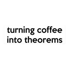 Mathematician: Coffee Into Theorems Wall Decal