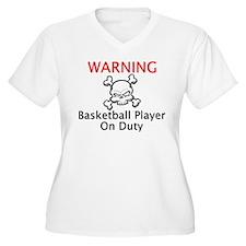 Warning Basketball Player T-Shirt