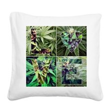 I LOVE WEED Square Canvas Pillow