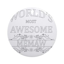 memaw Round Ornament