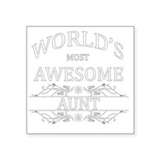 "AUNT Square Sticker 3"" x 3"""