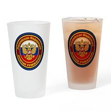 Russia COA (round) Drinking Glass