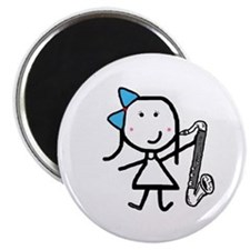 "Girl & Bass Clarinet 2.25"" Magnet (100 pack)"