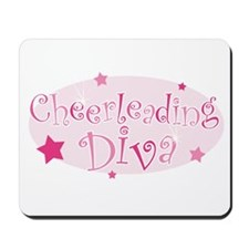 """Cheerleading Diva"" [pink] Mousepad"