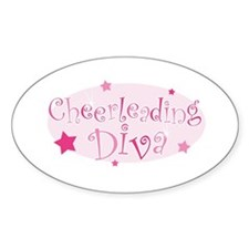 """""""Cheerleading Diva"""" [pink] Oval Decal"""