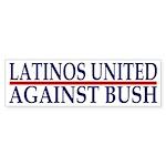 Latinos United Against Bush (sticker)