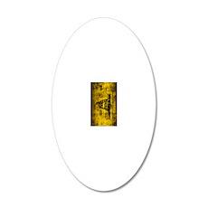 Gadsden Flag Dont Tread On M 20x12 Oval Wall Decal