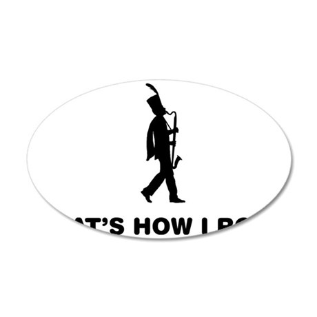 Marching-Band---Bass-Clarine 35x21 Oval Wall Decal