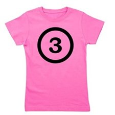 number three 3 Girl's Tee
