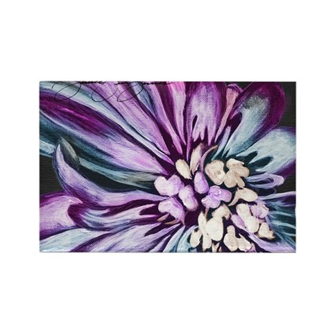 Painting of Purple Flower Rectangle Magnet