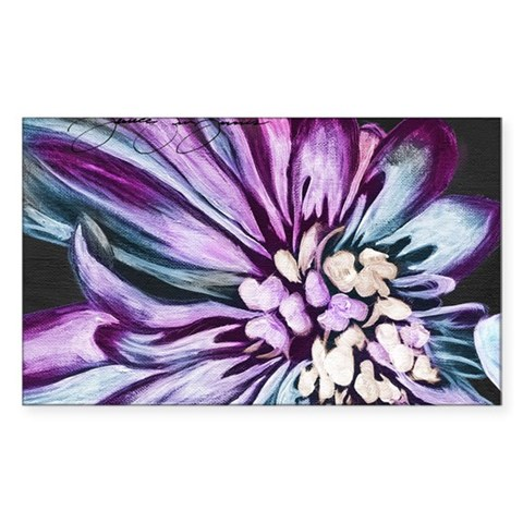 Painting of Purple Flower Decal