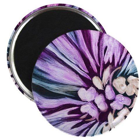 Painting of Flowers in Purple Magnet