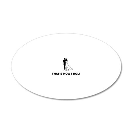Married-12-A 20x12 Oval Wall Decal