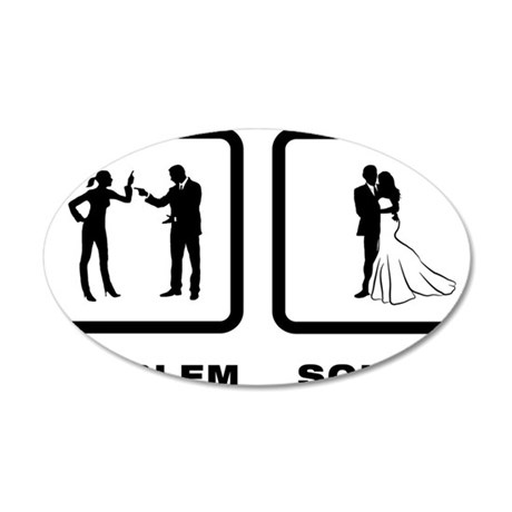 Married-10-A 35x21 Oval Wall Decal