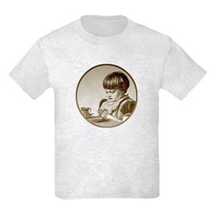 Child Saying Grace Kids Light T-Shirt