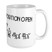 Stick Figure Family Woman Position Open Mug