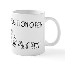 Stick Figure Family Woman Position Open Small Mug