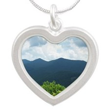 Blue Ridge Parkway near Ashe Silver Heart Necklace