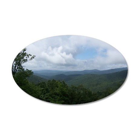 Blue Ridge Parkway - Ashevil 35x21 Oval Wall Decal