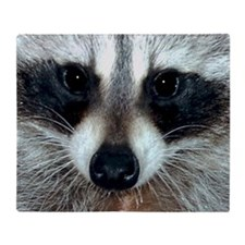Raccoon Face Throw Blanket