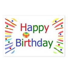 Happy Birthday! Postcards (Package of 8)