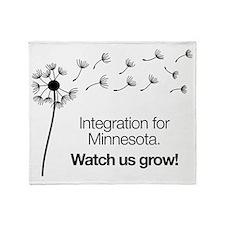 Dandelions for Integration Throw Blanket