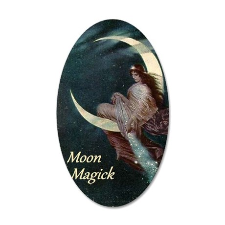 The Fairy of the Moon by Her 35x21 Oval Wall Decal