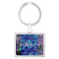 One Day at a Time Art Landscape Keychain