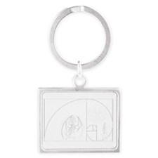 SASSAFRASS 2013 W on B Landscape Keychain