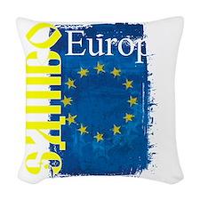 europe sambo Woven Throw Pillow